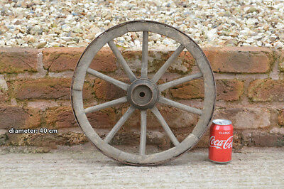 Vintage old wooden cart wagon wheel  / 40 cm- FREE DELIVERY