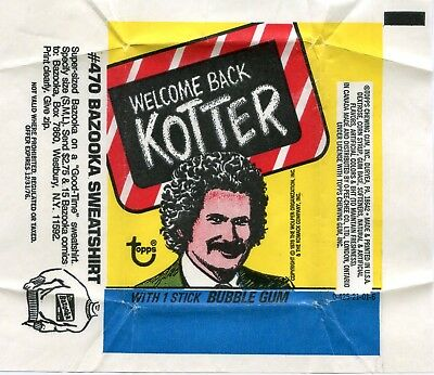 WELCOME BACK KOTTER 1978 Trading Card set Wrapper!!! Topps