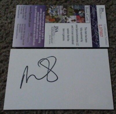 Miley Cyrus Music Legend Signed Autographed 3X5 Index Card Jsa Coa Authenticated
