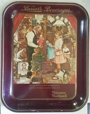 """Lasser's Norman Rockwell Limited Edition 1976 """"April Fools Day"""" Collectors Tray"""