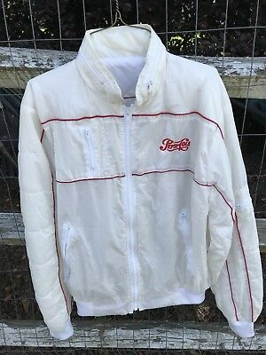 Vintage Pepsi Cola Windbreaker Jacket White Size S By Team Excellence Rare!