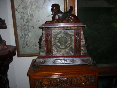 Amazing 1880 Antique Egyptian Revival Clock From Antiques Roadshow 19X20X8