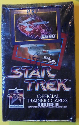 1991 Impel Star Trek 25th Anniversary Series 2 Trading Cards. Factory Sealed Box