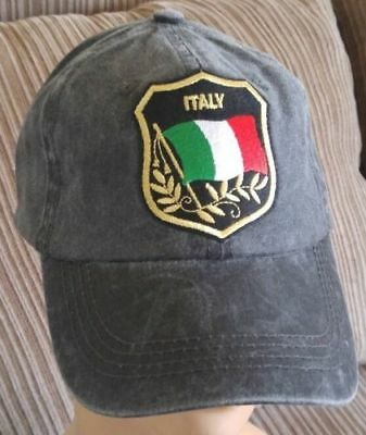1bd5d9e0a181d Italian Flag Baseball Cap Adjustable Unstructured Light Pigmented Dyed  Italy Hat