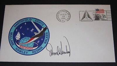 STS 41-D  Steven Hawley , signed Crew Patch Flight Cover