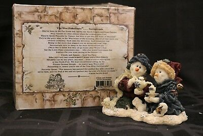 Boyds ~ Wee Folkstone ~ Snowpeople~Cicely & Juneau 36503
