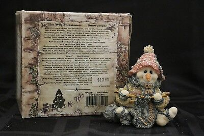 Boyds ~ Wee Folkstone ~ Snowpeople~Pearl the Knitter 36501