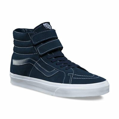 4d849366fd9 Vans Sk8 Hi Reissue V (White Stitch) Suede Navy Skate Shoes Womens Size 8.5