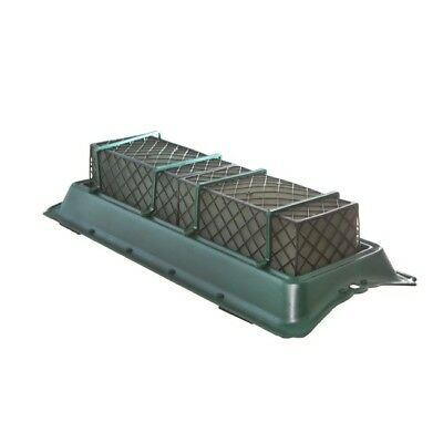 Floral Foam Double Casket Saddle Tray Caged Floral Foam 58.5x25x11.5cmH