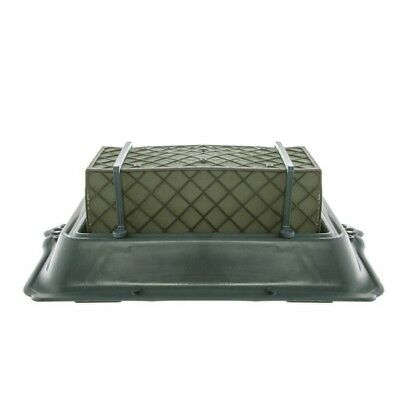 Single Casket Saddle Tray Caged Floral Foam 35x24.5x11.5cmH