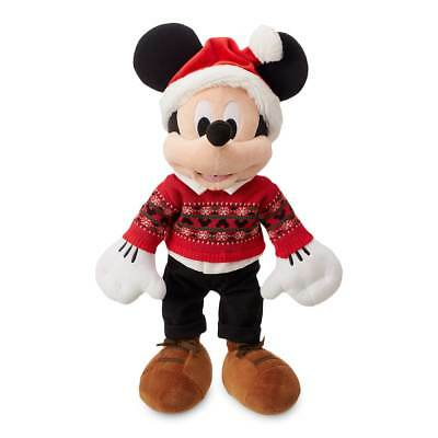 DISNEY STORE Mickey Mouse Plush Limited Edition 2018 Christmas Collectible ~ NEW