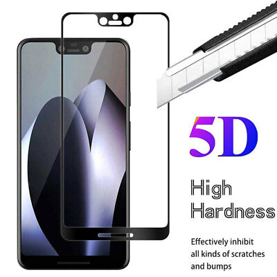 For Google Pixel 3/3XL Screen Protector 5D Full Cover Tempered  Glass Film Guard