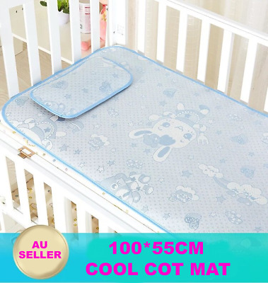 140*70CM Summer Cool Baby Icy Silky Breath Freely Sleeping Cot Mat Bedding