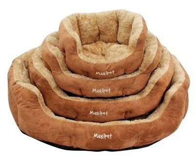 Dog Bed Soft Washable Fleece Fur Removable Cushion Warm Luxury Pet Basket