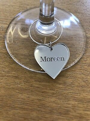 Personalised Wedding Decorations Glass Charms Favours Keepsake Hen Georgia Font