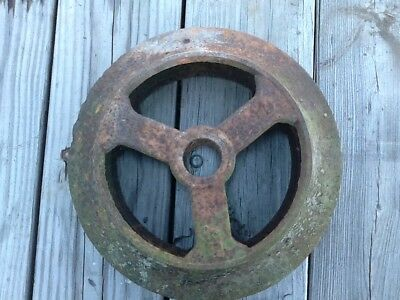 Vintage Antique Cultipacker Wheel Iron Farm Repurposed Shed Decor Yard Art