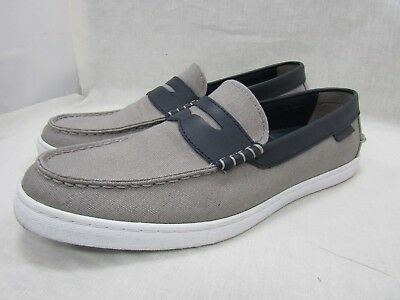 122d4bd1915 Cole Haan Nantucket Men s Gray Canvas Penny Loafers Size 9.5 M C28002