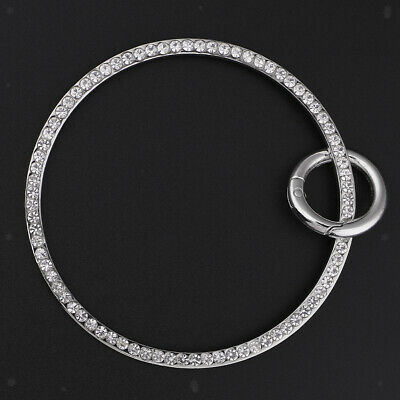 Silver Metal Handbag Handle with Spring Gate O-Ring for DIY Bag Accessories