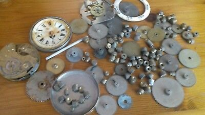 Collection of Vintage/Antique Clock Parts, bits plus .worth a look