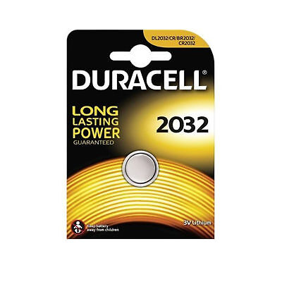 Duracell CR2032 Lithium Battery 3V Button/Coin Cell