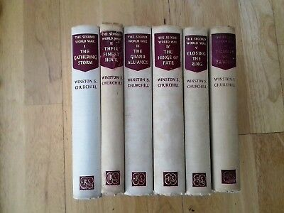 THE SECOND WORLD WAR 6 x Book Set by WINSTON CHURCHILL Reprint Society