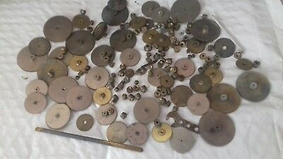 Antique Vintage Spares Repair Clock Parts Cogs allsorts wheels nice lot
