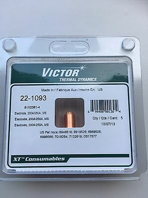 Victor Thermal Dynamics Plasma Electrode 22-1093 For Victor Plasma Cutting QTY 5