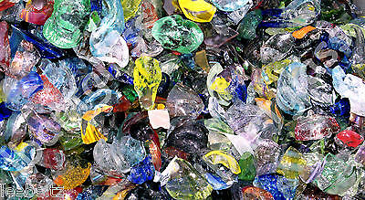 2 Pounds Of All Color Blown Glass Scraps Chips 96 Coe Casting Pot Melts