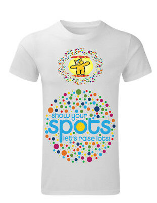 Pudsey Bear Spotty T/SHIRT 10% Donation Children in Need  PERSONALISED FREE