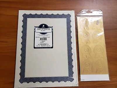 great papers metallic gold border certificate 8 5 x 11 100 count