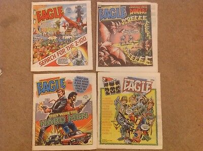 X4 Eagle Comics. Complete December run 1986. 246 - 249. Christmas issue.