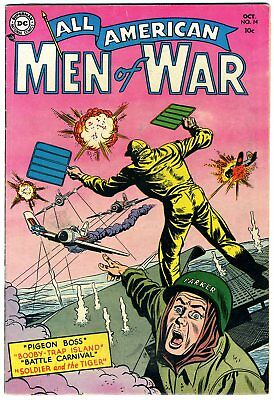 "All American Men of War #14 FN 1954 ""strict grading"" and ""1 day shipping"""