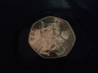 VERY RARE CIRCULATED 2017 TOM KITTEN 50p COIN
