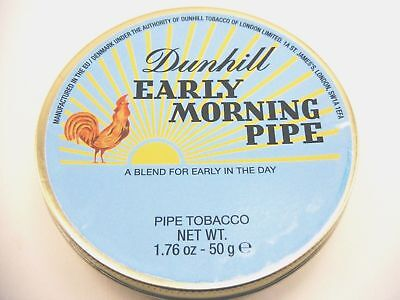 Rare Dunhill Early Morning Pipe, Pipe Tobacco In 50G Collectible Sealed Tin