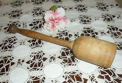 "Antique, Original Primitive Condition ""large"" Wood Pestle"