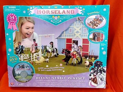 NIB HORSELAND DELUXE Stable Playset By Thinkway, Includes Dvd!!