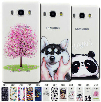 For Samsung Galaxy J5(2016)/J510 Soft Case Cover TPU Rubber Clear Pattern Skin