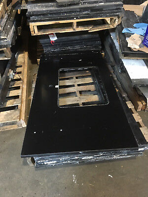 5'x31' Black Epoxy Counter Top with Sink Cut Out, Chem Resistant for Laboratory