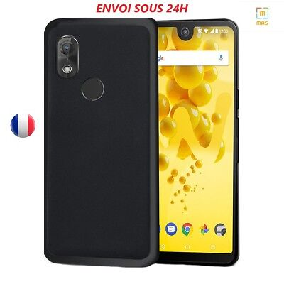 Coque Housse Etui Silicone Noir Mat Pour Wiko Sunny/jerry/lenny/tommy/view 2/3/5