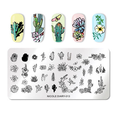 NICOLE DIARY Nail Stamping Plates Flower Pattern Nail Stamp Image Plate ND-013