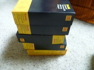 Lot of 5 Vintage KODAK 80 Slide Carousel Slide Trays With Boxes Pre-owned