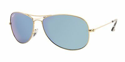 f718ff7393 Ray Ban RB3562 112 A1 Gold Blue Mirror Chromance Polarized Aviator  Sunglasses