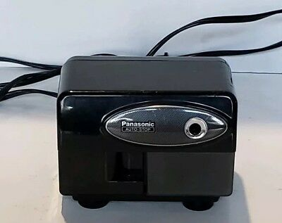 Panasonic Auto Stop Electric Pencil Sharpener Model KP-310 Works Great Black