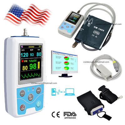 USA FDA PM50 Portable Vital Signs NIBP Patient Monitor NIBP/SpO2/PR,PC Software