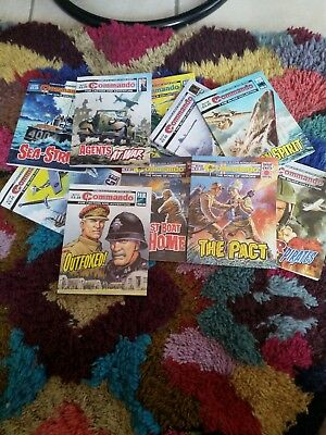 COMMANDO WAR COMICS large numbers of available. $20.00 buys 11 comics.
