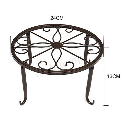 One/Two layer Elegant Metal Plant Stand Shelf Flower Pot Rack Holder Xmas Gifts
