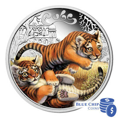 2016 50c The Cubs Tiger 1/2oz Silver Proof Coin