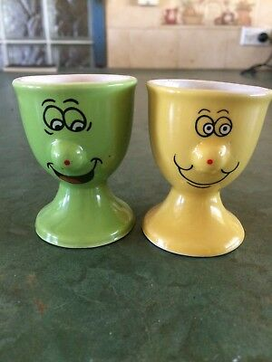 Ceramic Novelty Egg Cups with Faces
