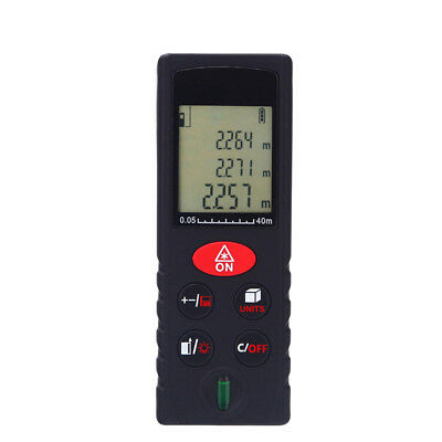 40M Digital LCD Laser Distance Meter Range Finder Measure Tape Diastimeter 3V