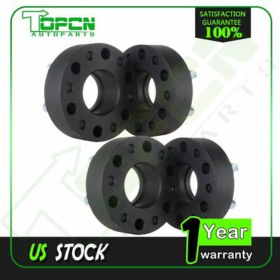 """4Pc 2"""" Thick 6x5.5 Hub Centric Wheel Spacers 14x1.5 For 1995-2016 Chevy Tahoe"""